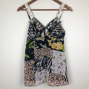 3/$25 B Wear Floral Animal Print Chiffon Tank Top